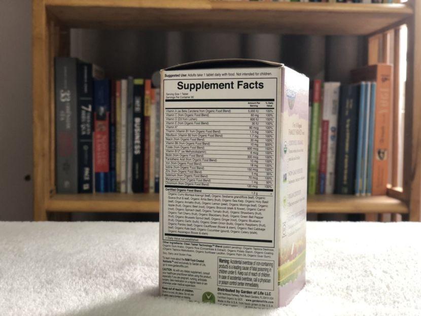 Multi Vitamin Bầu Hữu Cơ Garden of Life Organic Prenatal Multivitamin