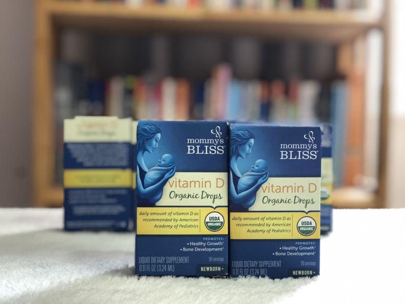 Vitamin D Hữu Cơ Organic Drops mommys bliss-milena-1