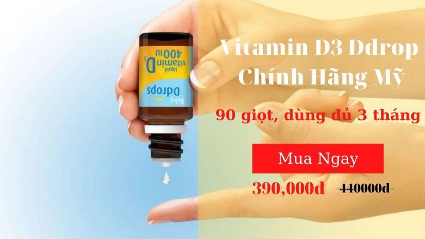 Vitamin D3 Ddrop chính hãng Mỹ