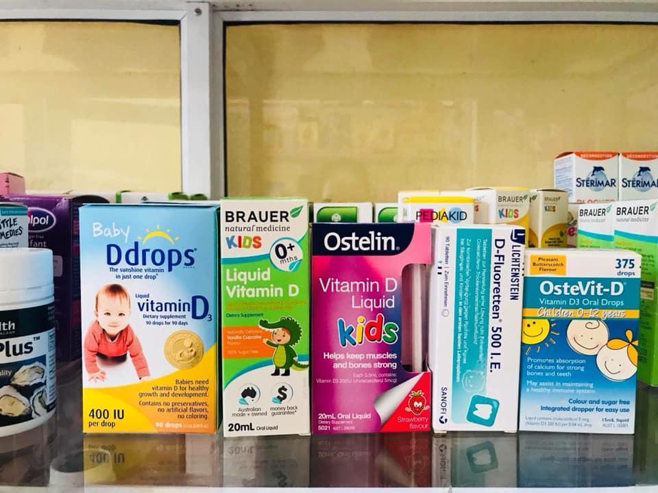 Các Loại Vitamin D3 cho trẻ sơ sinh ở Việt Nam