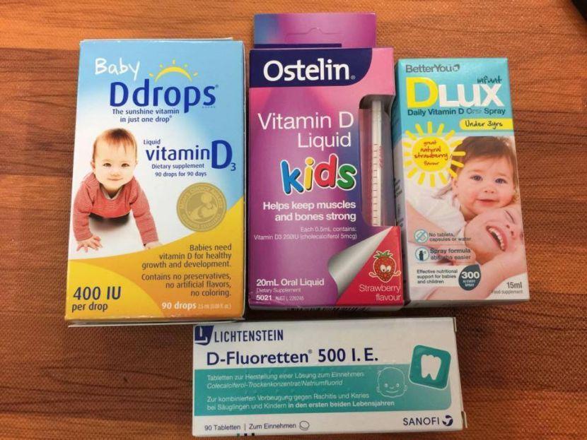 Các loại Vitamin D3 cho trẻ sơ sinh
