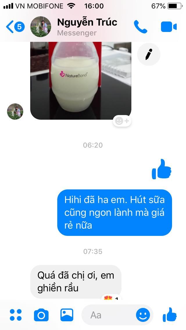 Chị Trúc, Phan Rang chia sẻ sau khi dùng cốc hứng sữa NatureBond
