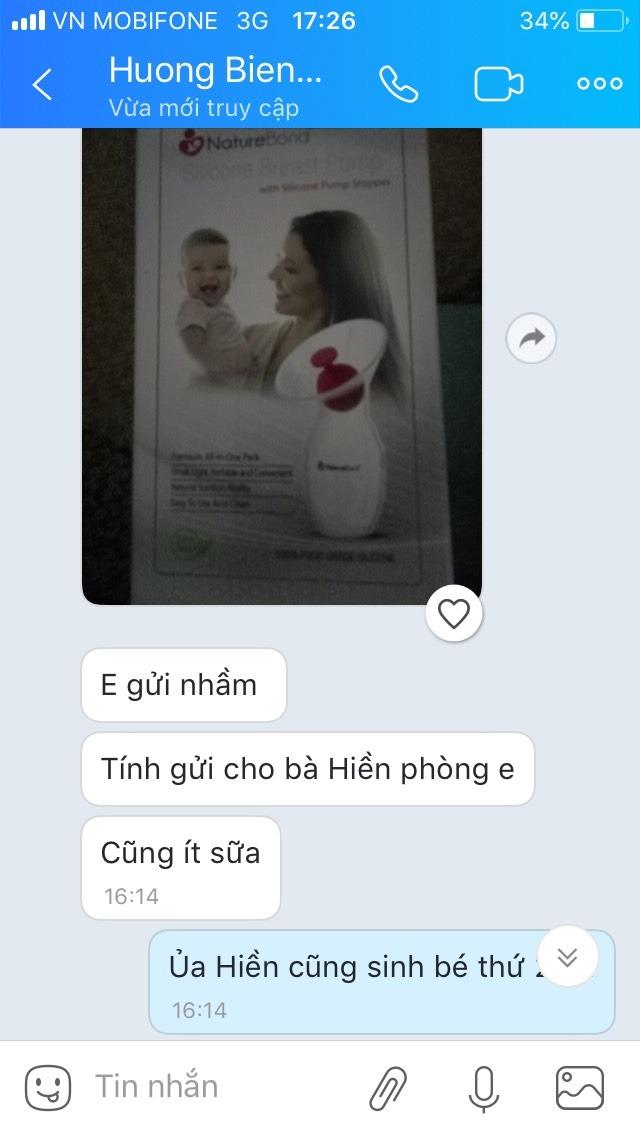 Chị Hương Biên Hoà chia sẻ sau khi dùng cốc hứng sữa NatureBond - 1