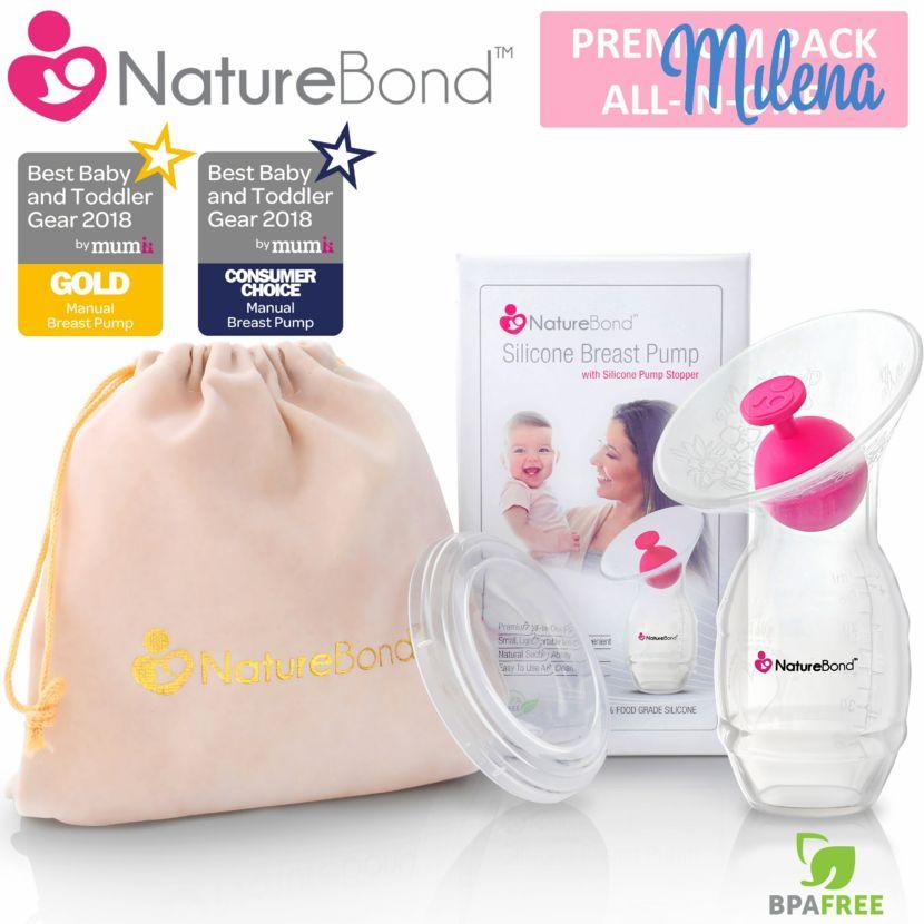 cốc hứng sữa silicon Naturebond