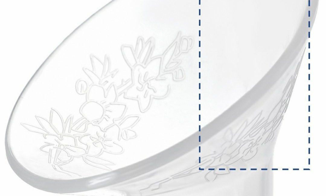 Cốc hứng sữa Nature Bond - Milena - biên dạng vàng