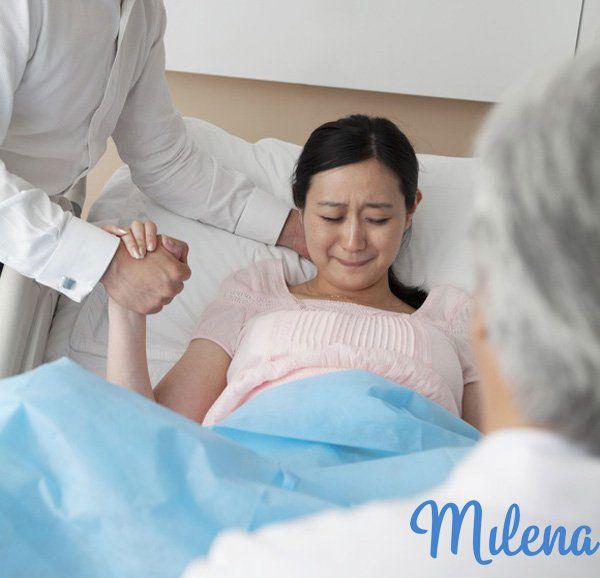 Mẹ căng thẳng trước giờ sinh