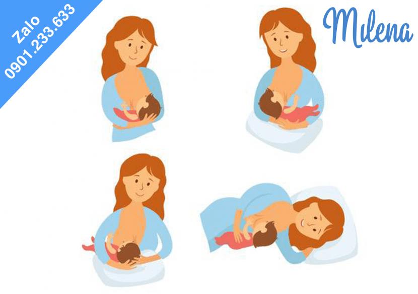 Chọn tư thế bú đúng giúp mẹ và bé thoải mái, tránh nứt cổ gà - Milena