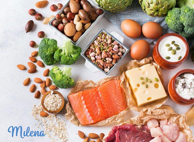 Cung cấp đầy đủ các chất đạm từ thực phẩm giúp mẹ cân bằng chế độ dinh dưỡng trong ba tháng đầu