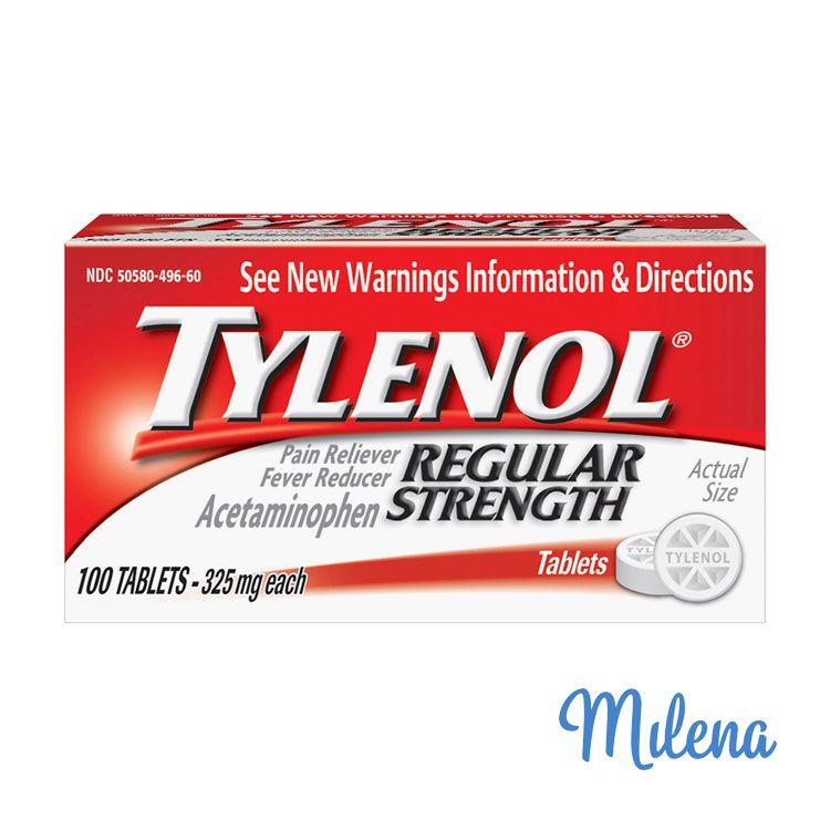 Thuốc giảm đau an toàn Tylenol cho nứt cổ gà